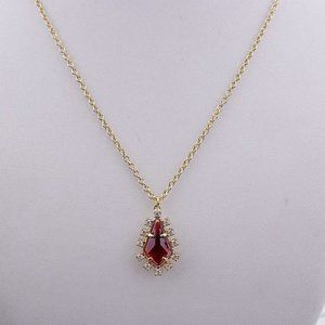 Kate Spade Red Zircon Diamond Necklace